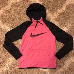 Nike Therma-Fit Hoodie Pink & Black, size Medium